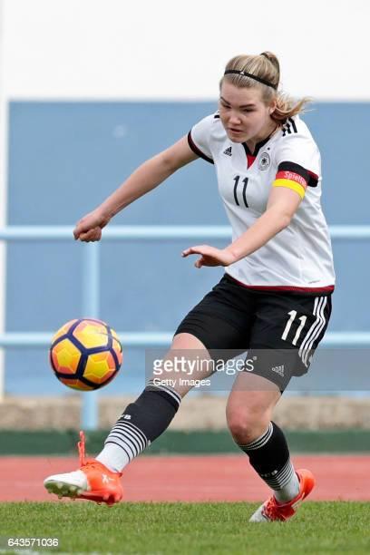 Laura Haas of Germany U16 Girls during the match between U16 Girls Germany v U16 Girls Netherlands on the UEFA International Development Tournament...