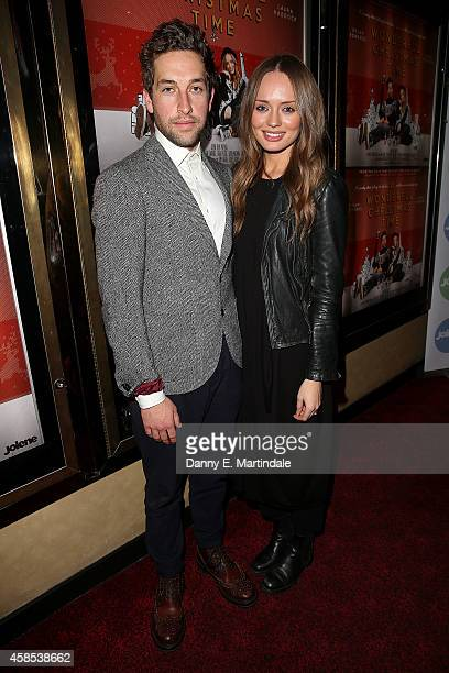 Laura Haddock and Dylan Edwards attends the UK Premiere of 'A Wonderful Christmas Time' at Empire Leicester Square on November 6 2014 in London...