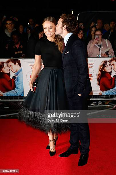 Laura Haddock and Sam Claflin attend the World Premiere of Love Rosie at the Odeon West End on October 6 2014 in London England