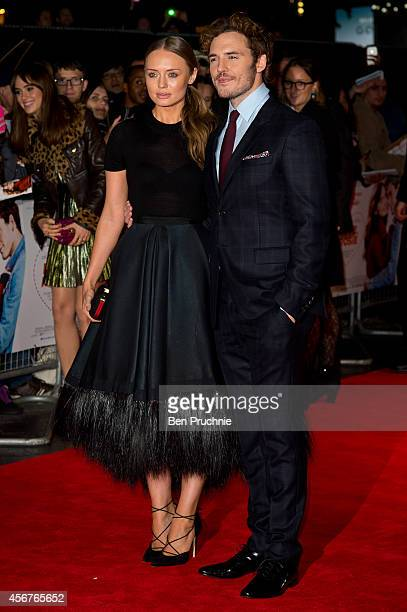 Laura Haddock and Sam Claflin attends the World Premiere of 'Love Rosie' at Odeon West End on October 6 2014 in London England