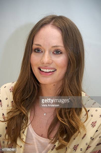 Laura Haddock at the Da Vinci's Demons Press Conference at the Four Seasons Hotel on March 7 2014 in Beverly Hills California