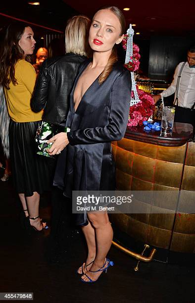 Laura Haddock attend as Lancome Caroline de Maigret host a private LFW dinner to celebrate 'How to be Parisian' at The Arts Club on September 15 2014...