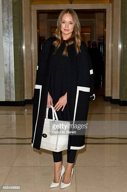 Laura Haddock attends Pringle of Scotland SS15 show during London Fashion Week at Claridges Hotel on September 14 2014 in London England