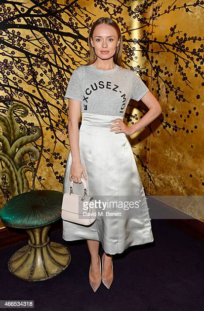 Laura Haddock attends the Dior And I UK Premiere after party at Loulou's on March 16 2015 in London England