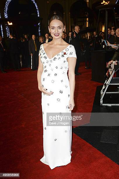 Laura Haddock attends The Hunger Games Mockingjay Part 2 UK Premiere at Odeon Leicester Square on November 5 2015 in London England