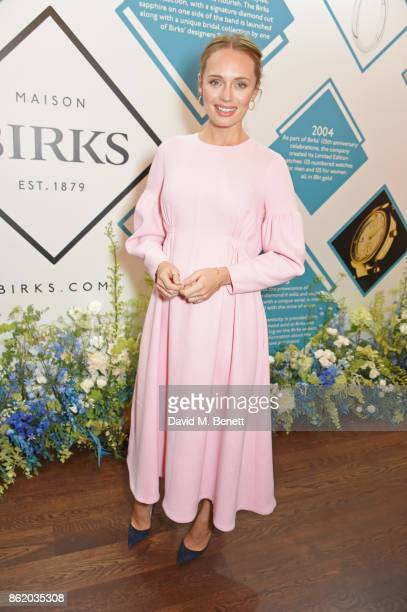 Laura Haddock attends the UK launch of Birks Jewellery at Canada House Trafalgar Square on October 16 2017 in London England