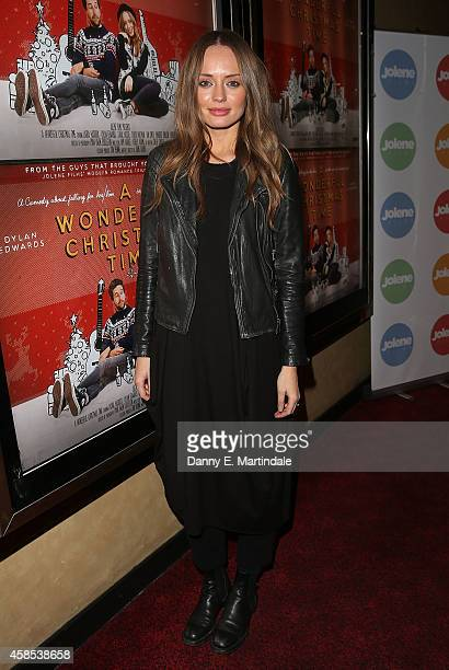 Laura Haddock attends the UK Premiere of A Wonderful Christmas Time at Empire Leicester Square on November 6 2014 in London England