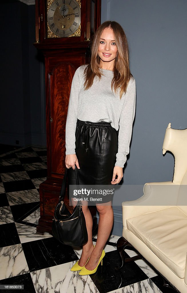 Laura Haddock attends the Whistles Limited Edition Autumn/Winter 2013 Collection at The Arts Club on February 17, 2013 in London, England.