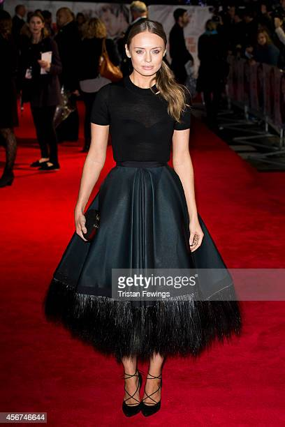 Laura Haddock attends the World Premiere of 'Love Rosie' at Odeon West End on October 6 2014 in London England