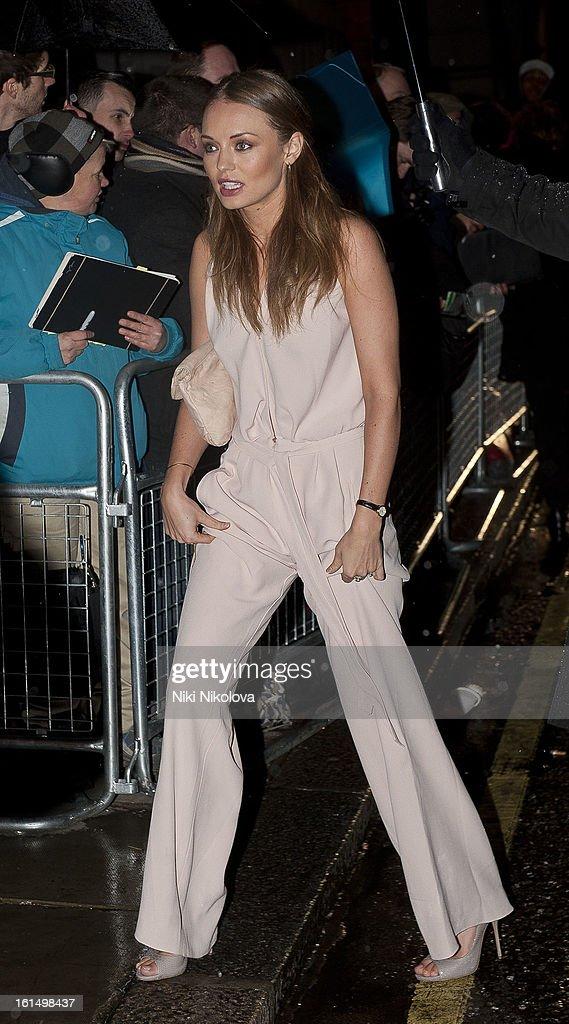 Laura Haddock sighting on February 11, 2013 in London, England.