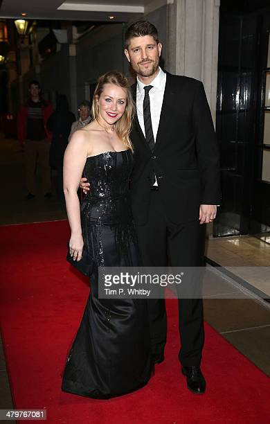 Laura Hamilton and Alex Goward attend a VIP fundraising dinner in aid of Helping Hands at The Savoy Hotel on March 20 2014 in London England
