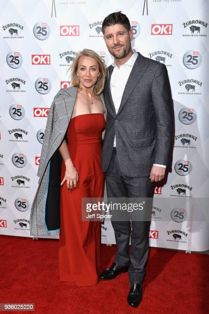 Laura Hamilton and Alex Goward attend OK Magazine's 25th Anniversary Party at The View from The Shard on March 21 2018 in London England