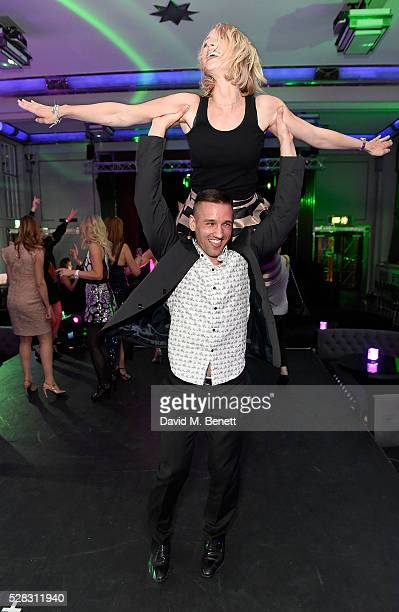 Laura Hamilton and Colin Ratushniak at The London Cabaret Club launch party at The Bloomsbury Ballroom on May 4 2016 in London England