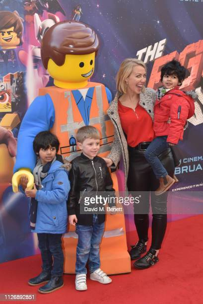 Laura Hamilton and guests attend the multimedia screening of The Lego Movie 2 The Second Part at Cineworld Leicester Square on February 02 2019 in...