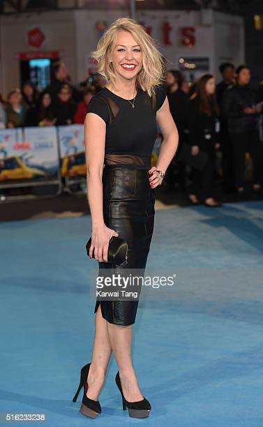 Laura Hamilton arrives for the European premiere of 'Eddie The Eagle' at Odeon Leicester Square on March 17 2016 in London England
