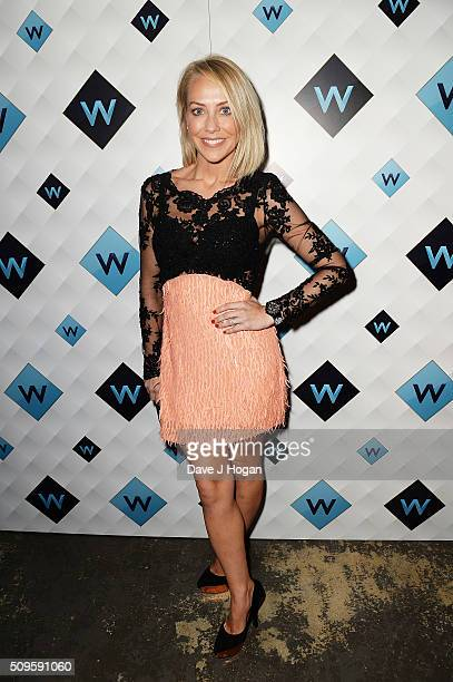 Laura Hamilton attends a celebration of the new TV channel W launching on Monday 15th February at Union Street Cafe on February 11 2016 in London...