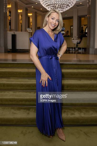 Laura Hamilton attends afternoon tea at Corinthia Hotel London in aid of Breast Cancer Now hosted by Angie Greaves and Concorde Media.
