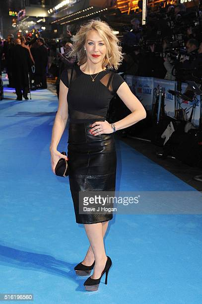 Laura Hamilton attends the European premiere of 'Eddie The Eagle' at Odeon Leicester Square on March 17 2016 in London England