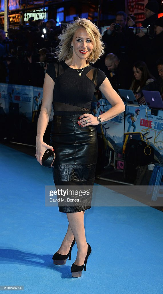 Laura Hamilton attends the European Premiere of 'Eddie The Eagle' at Odeon Leicester Square on March 17, 2016 in London, England.