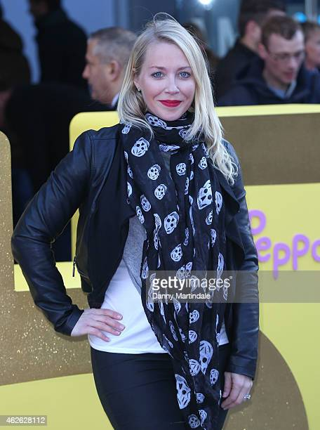Laura Hamilton attends the premeire of 'Peppa Pig The Golden Boots' at Odeon Leicester Square on February 1 2015 in London England