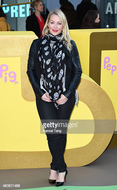 Laura Hamilton attends the UK premiere of Peppa Pig The Golden Boots at Odeon Leicester Square on February 1 2015 in London England