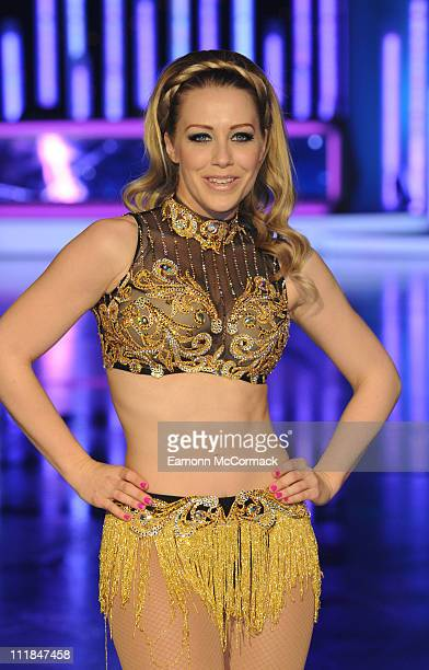 Laura Hamilton poses for the cameras ahead of Dancing on Ice The Tour 2011 at Motorpoint Arena on April 7 2011 in Sheffield England