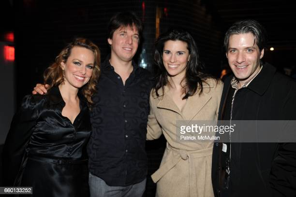 """Laura Harden, Josh Bell, Milena Govich and David Cornue attend THE CINEMA SOCIETY & NEXTBOOK & GREY GOOSE host the after party for """"DEFIANCE"""" at..."""