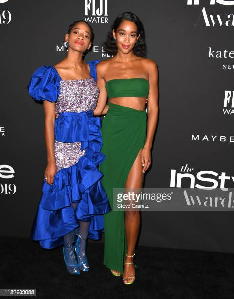 Laura Harrier arrives at the 2019 InStyle Awards at The Getty Center on October 21 2019 in Los Angeles California