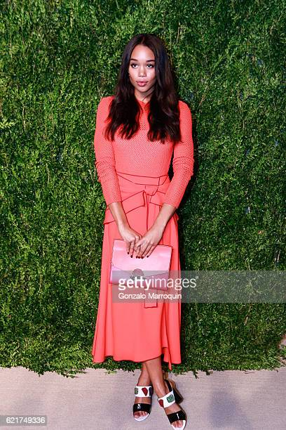 Laura Harrier at the 2016 CFDA/Vogue Fashion Fund Awards at Spring Studios on November 7 2016 in New York City