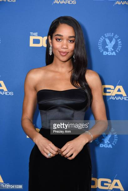Laura Harrier attends 71st Annual Directors Guild Of America Awards at The Ray Dolby Ballroom at Hollywood Highland Center on February 02 2019 in...