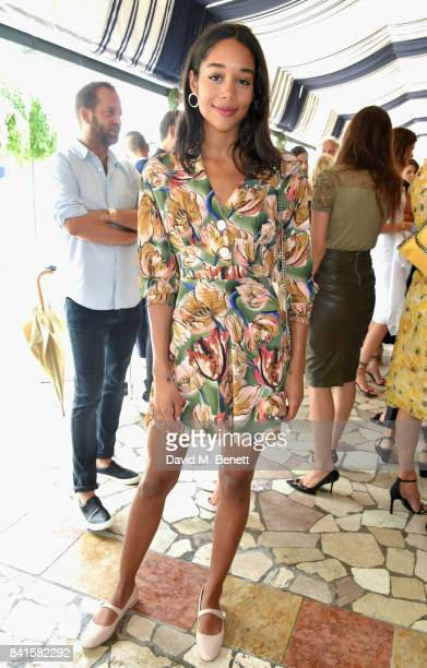 Laura Harrier attends an intimate lunch hosted by Livia Firth Carlo Capasa and Caroline Scheufele to announce Chopard as partner for The Green Carpet...