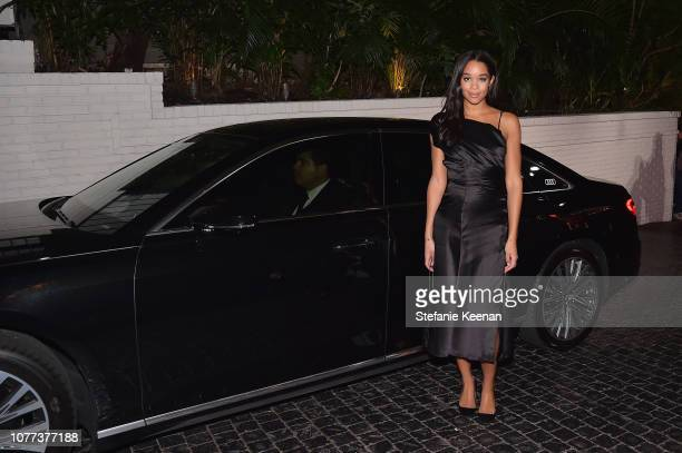 Laura Harrier attends Audi Arrivals at W Magazine's Best Performances Party at Chateau Marmont on January 4, 2019 in Los Angeles, California.