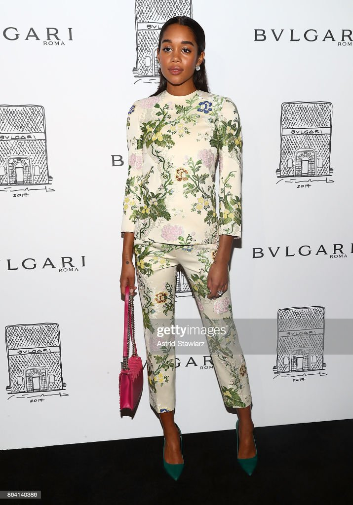 5ac9e8d5ad2 Laura Harrier attends Bulgari 5th Avenue flagship store opening on ...