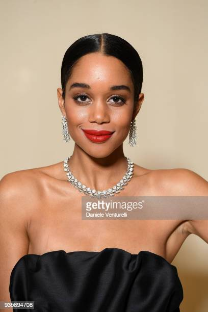 Laura Harrier attends Bvlgari Cocktail Party At Baselworld 2018 on March 21 2018 in Basel Switzerland