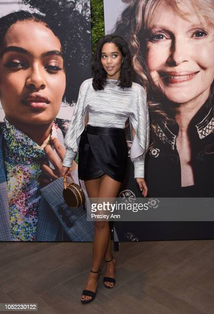 Laura Harrier attends ELLE's 25th Annual Women In Hollywood Celebration presented by L'Oreal Paris Hearts On Fire and CALVIN KLEIN at Four Seasons...