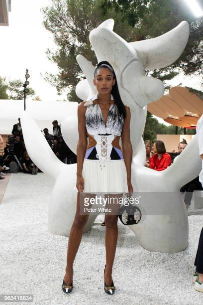 Laura Harrier attends Louis Vuitton 2019 Cruise Collection at Fondation Maeght on May 28 2018 in SaintPaulDeVence France