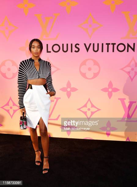 Laura Harrier attends Louis Vuitton X Opening Cocktail on June 27, 2019 in Beverly Hills, California.