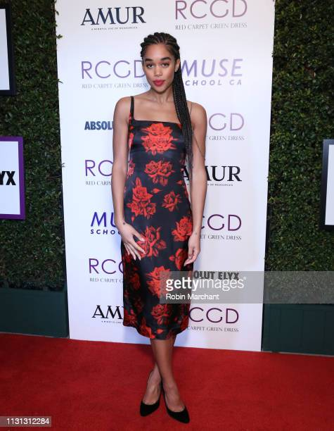 Laura Harrier attends Suzy Amis Cameron's 10-Year Anniversary Of RCGD Celebration on February 21, 2019 in Beverly Hills, California.