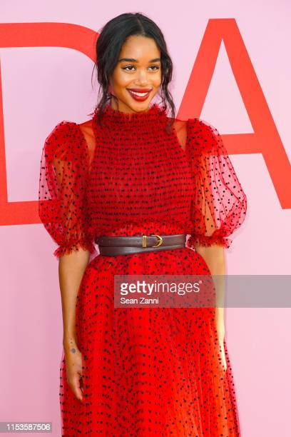 Laura Harrier attends the 2019 CFDA Fashion Awards Arrivals at Brooklyn Museum on June 03 2019 in New York City