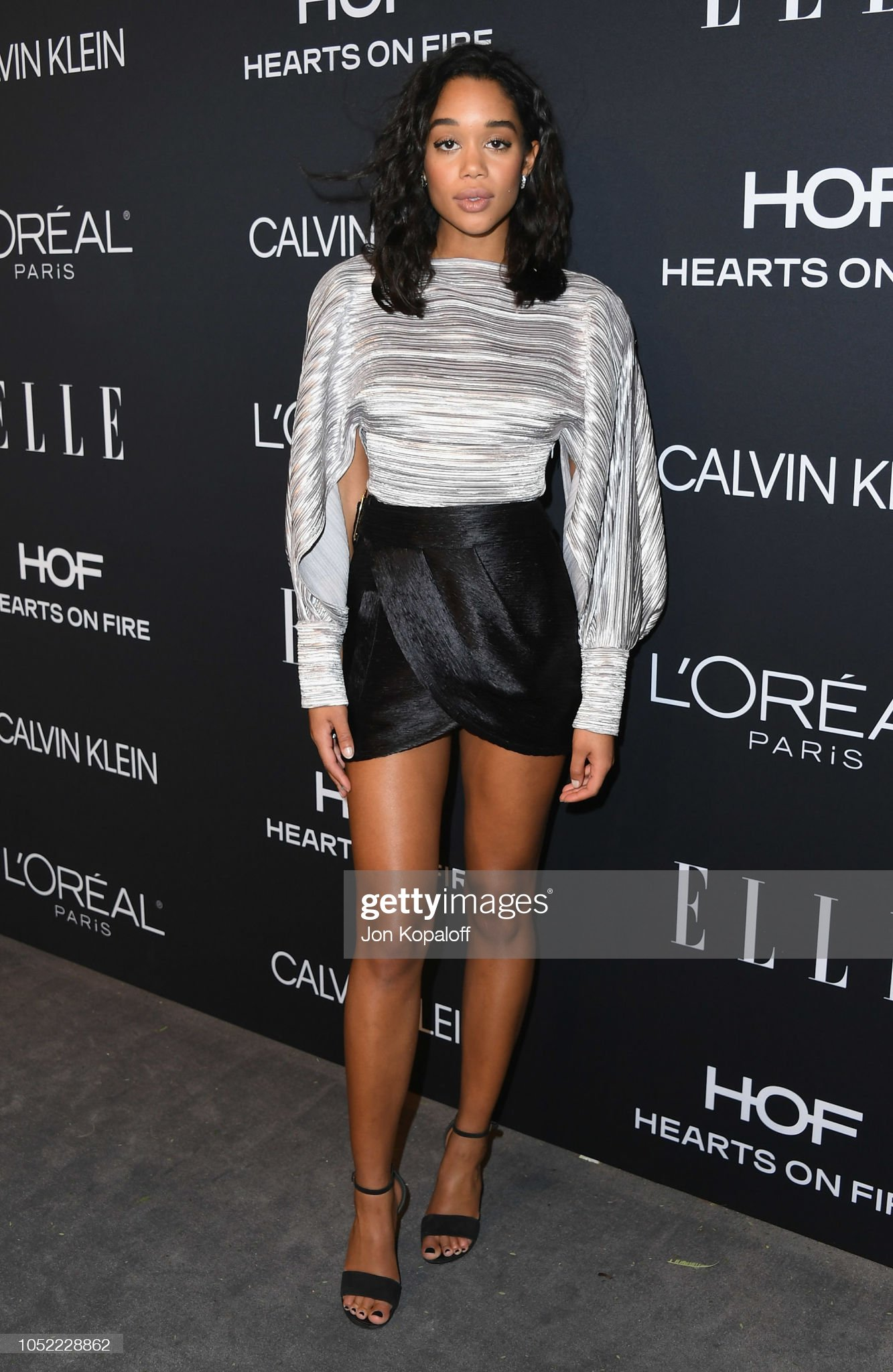 ¿Cuánto mide Laura Harrier? - Altura - Real height Laura-harrier-attends-the-25th-annual-elle-women-in-hollywood-at-picture-id1052228862?s=2048x2048