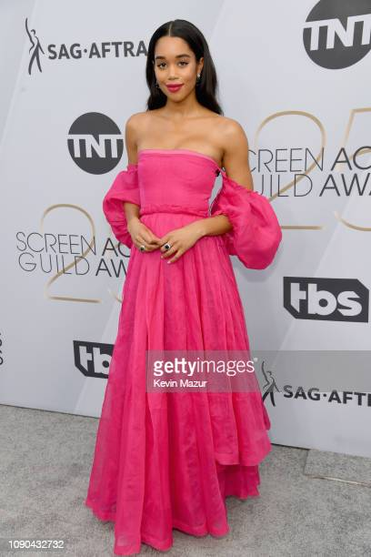 Laura Harrier attends the 25th Annual Screen Actors Guild Awards at The Shrine Auditorium on January 27 2019 in Los Angeles California 480568