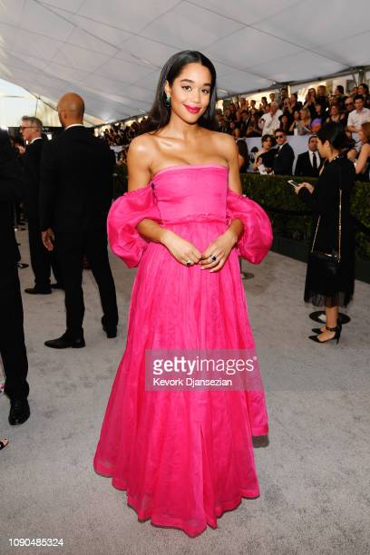 Laura Harrier attends the 25th Annual Screen Actors Guild Awards at The Shrine Auditorium on January 27 2019 in Los Angeles California
