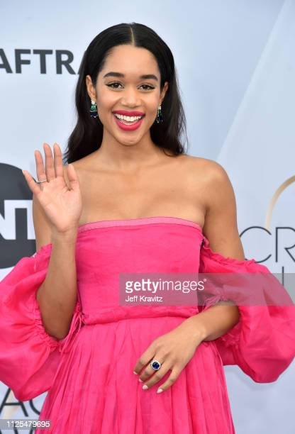 Laura Harrier attends the 25th Annual Screen ActorsGuild Awards at The Shrine Auditorium on January 27 2019 in Los Angeles California