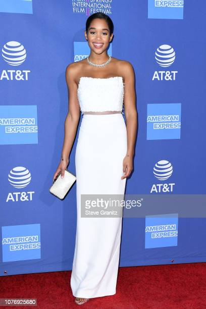 Laura Harrier attends the 30th Annual Palm Springs International Film Festival Film Awards Gala at Palm Springs Convention Center on January 3 2019...