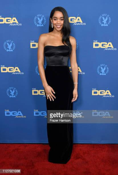 Laura Harrier attends the 71st Annual Directors Guild Of America Awards at The Ray Dolby Ballroom at Hollywood & Highland Center on February 02, 2019...