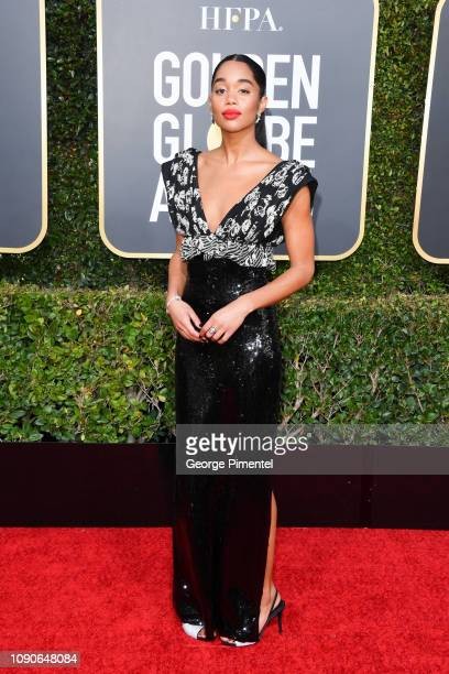 Laura Harrier attends the 76th Annual Golden Globe Awards held at The Beverly Hilton Hotel on January 06 2019 in Beverly Hills California