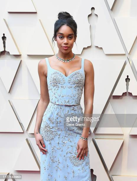 Laura Harrier attends the 91st Annual Academy Awards at Hollywood and Highland on February 24, 2019 in Hollywood, California.