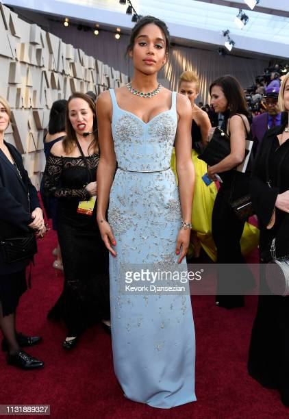 Laura Harrier attends the 91st Annual Academy Awards at Hollywood and Highland on February 24 2019 in Hollywood California