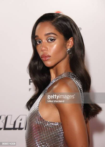 "Laura Harrier attends the ""BlacKkKlansman"" After Party during the 71st annual Cannes Film Festival at on May 14, 2018 in Cannes, France."