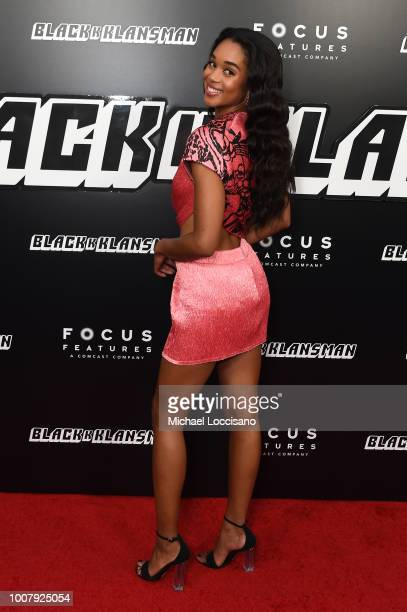 Laura Harrier attends the BlacKkKlansman New York Premiere at Brooklyn Academy of Music on July 30 2018 in New York City